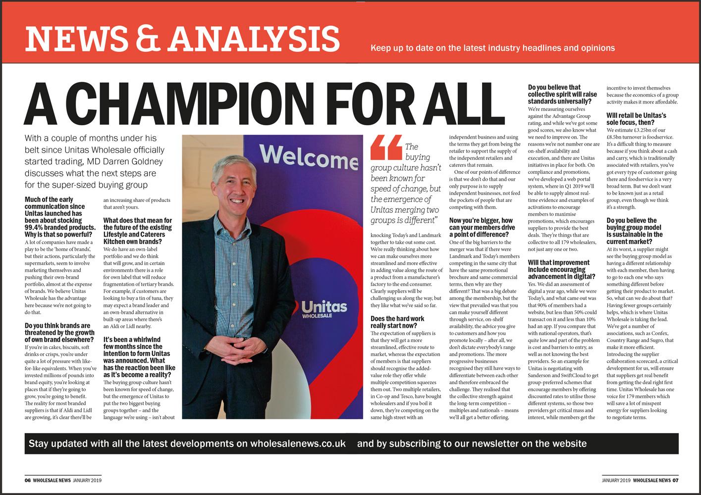 Unitas Managing Director Darren Goldney speaks to Wholesale News
