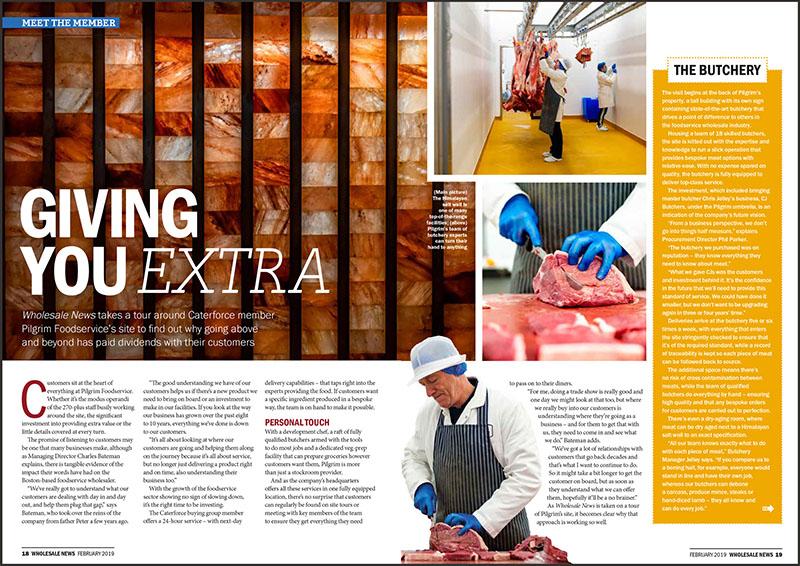 Pilgrim Foodservice, Wholesale News, February 2019