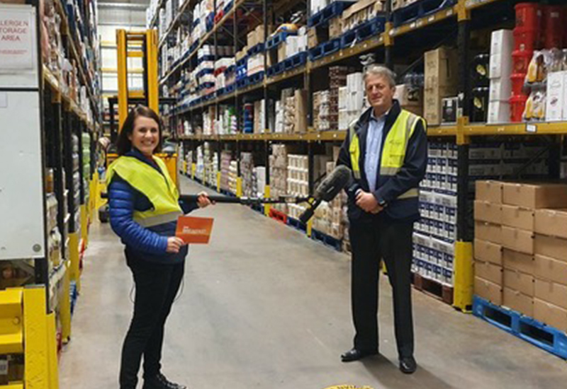 Andrew Selley in Bidfood Cannock depot