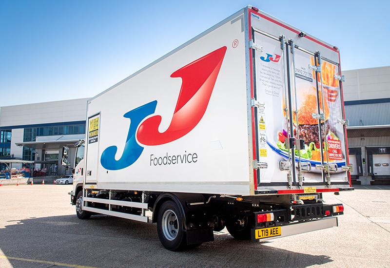 JJ Foodservice van