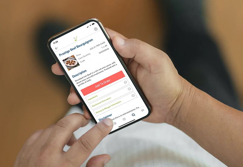 Birchall Foodservice app